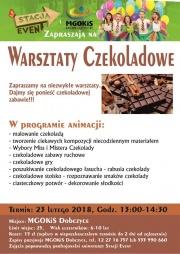 """Plakat """"Warsztaty Czekoladowe"""""""