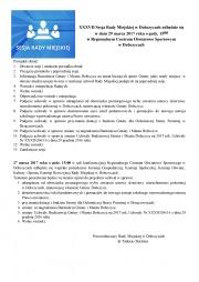 Porządek obrad - Sesja Rady Miejskiej