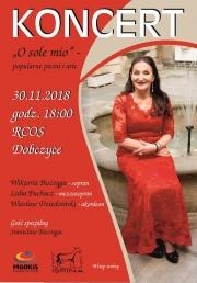 """plakat - Koncert: """"O sole mio"""" - popularne pieśni i arie"""