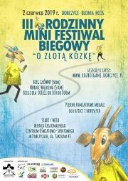 plakat - III Rodzinny Mini Festiwal Biegowy