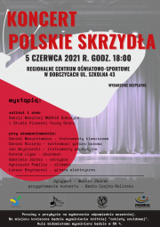 """plakat koncertu """"Polskie Skrzydła"""""""