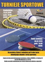 plakat - Turniej sportowy - badmington