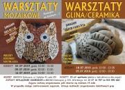 plakat - warsztaty z mozaiki i ceramiczne
