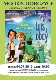 plakat - Seans filmowy Luis i obcy