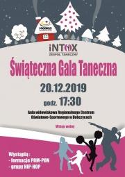 plakat - Świąteczna Gala Intoxu
