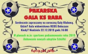 plakat - Piłkarska Gala KS Raby