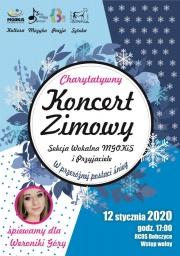 plakat - koncert zimowy