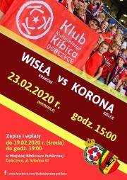 plakat - mecz Wisła vs Korona