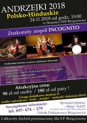plakat - polsko-hinduskie Andrzejki w Brzączowicach