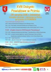 dożynki powiatowe w Pcimiu