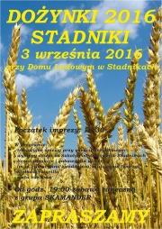 Dożynki w Stadnikach 2016 - plakat