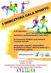 plakat promujący I Dobczycką Galę Sportu