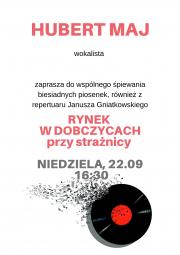 koncert Huberta Maja w Rynku w Dobczycach