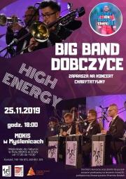 plakat - charytatywny koncert Big Band Dobczyce