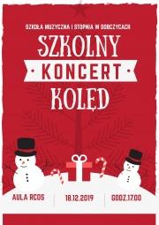 plakat - koncert kolęd Szkoły Muzycznej