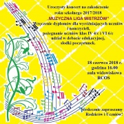 Plakat - koncert końcoworoczny Szkoły Muzycznej I stopnia w Dobczycach