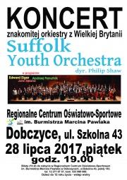 plakat - Koncert symfoniczny: Suffolk Youth Orchestra