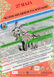 """plakat gry terenowej """"Kozim Szlakiem na Wypasie"""""""