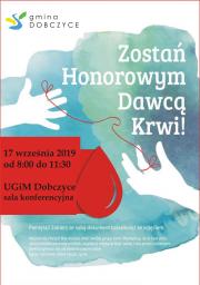 plakat - Zostań Honorowy Dawcą Życia