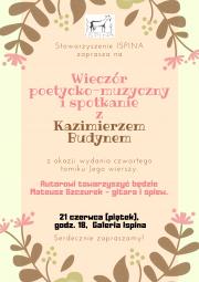 Wieczór poetycko-muzyczny Kazimierza Budyna