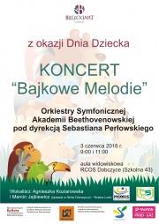 plakat - Bajkowe Melodie