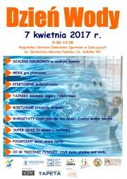 plakat - Dzień Wody w Dobczycach