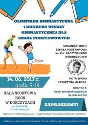 plakat - olimpiada gimnastyczna 2017