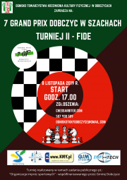 plakat - VII Grand Prisx w szachach