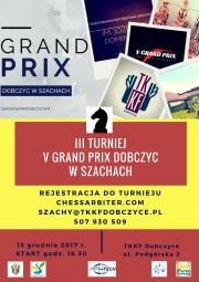 III Turniej V Grand Prix Dobczyc w Szachach