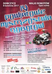 plakat - IV Powiatowe Mistrzostwa Robotów