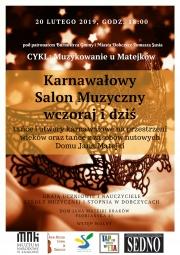 koncert karnawałowy w Domu Jana Matejki