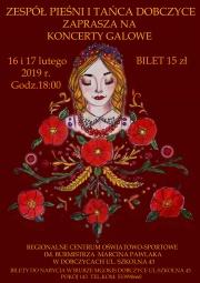plakat - koncerty galowe Zespołu Pieśni i Tańca Dobczyce