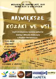 plakat - największe Kozaki we wsi