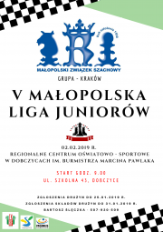 plakat - V Małopolska Liga Juniorów