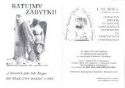 plakat - Kwesta na odnowę zabytkowych nagrobków