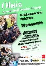 plakat - Ogólnopolskie Zawody Seniorów w Speed-ballu
