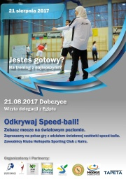 Plakat - speed ball - trening z mistrzami