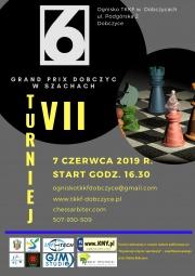 plakat - VII Grand Prix w szachach