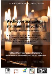 Wielkopostna zaduma ... - koncert w Domu Jana Matejki 2019