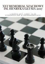 plakat -  XVI memoriał szachowy