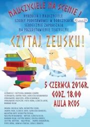 plakat - czytaj Zeusku