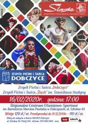 """plakat - Koncert Zespołu Pieśni i Tańca """"ŚLĄSK"""" oraz """"DOBCZYCE"""""""