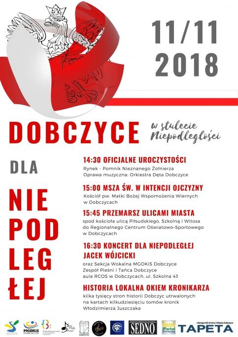 Obchody Święta Niepodległości w Dobczycach