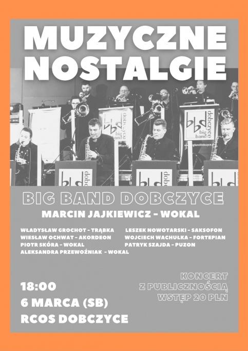 plakat promujący koncert Muzyczne Nostalgie