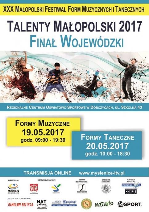 plakat talentów małopolski 2017