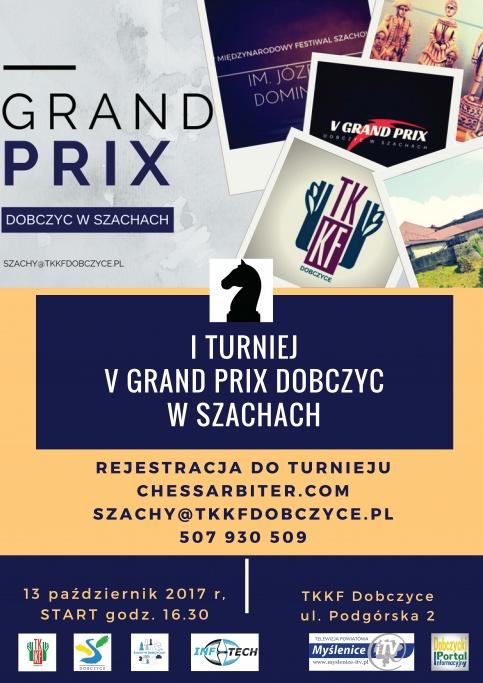 Plakat V Grand Prix Dobczyc w szachach
