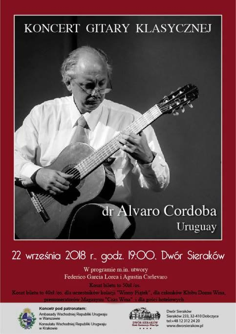 Koncert gitarowy Alvaro Cordoba z Urugwaju
