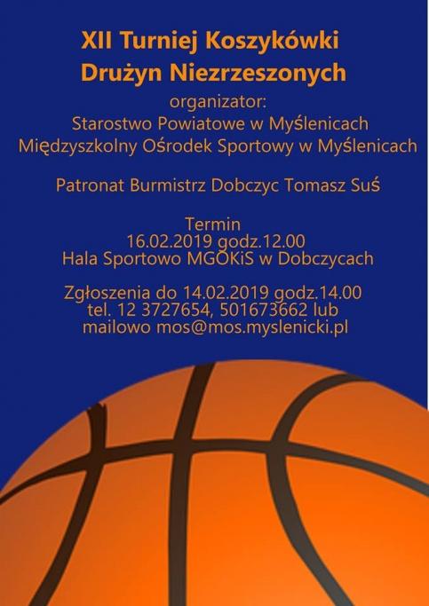 plakat - turniej koszykówki