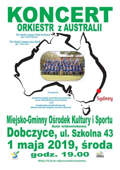 plakat - koncert orkiestr z Australii