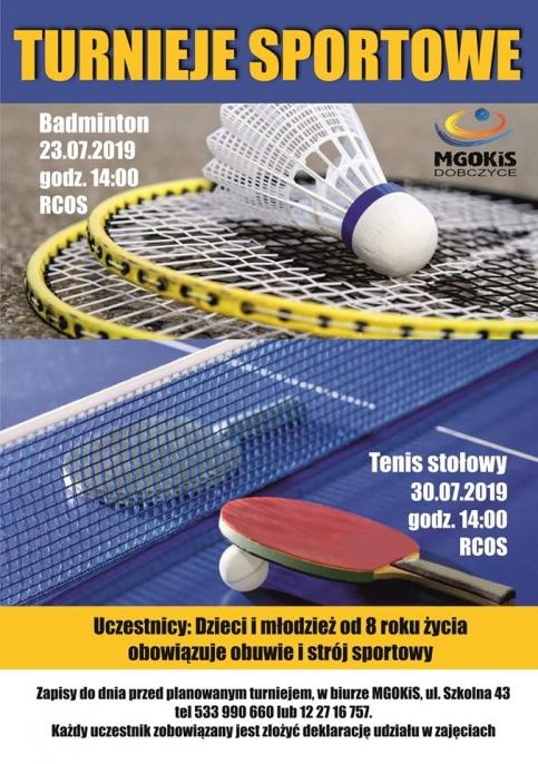 plakat - Turniej tenisa stołowego